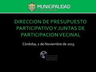 DIRECCION DE PRESUPUESTO PARTICIPATIVO Y JUNTAS DE PARTICIPACION VECINAL