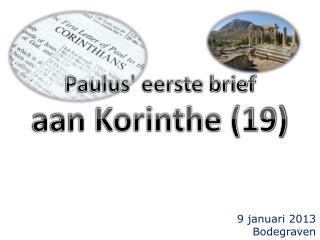 Paulus' eerste brief aan Korinthe (19)