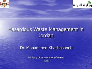 Hazardous Waste Management in Jordan