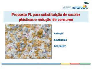 Proposta PL para substituição de sacolas plásticas e redução de consumo