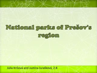 National parks of Prešov's region