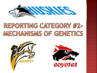 Reporting category #2- Mechanisms of genetics