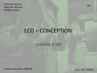 ECO – CONCEPTION