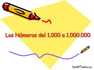 Los N�meros del 1.000 a 1.000.000