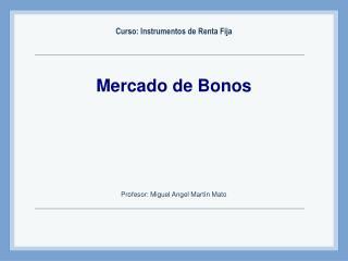 Mercado de Bonos