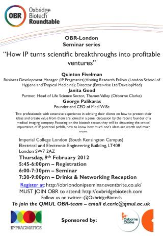 OBR-London Seminar series