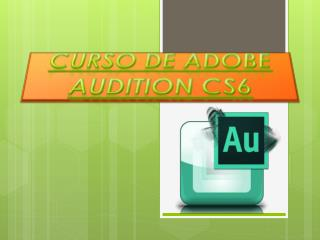 Curso de Adobe  Audition  CS6
