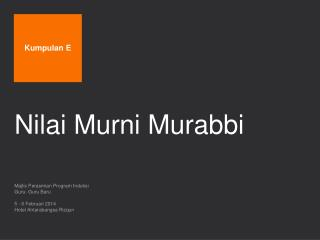 Nilai Murni Murabbi