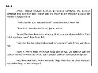 Teks  1