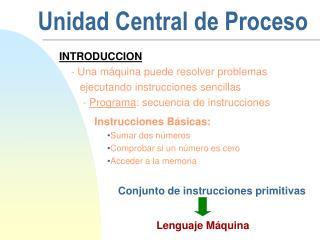 Unidad Central de Proceso