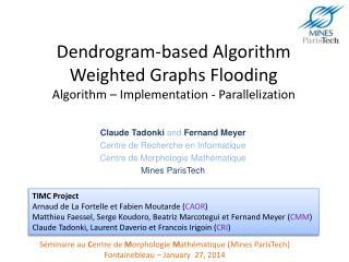 Claude Tadonki  and Fernand Meyer Centre de Recherche en Informatique