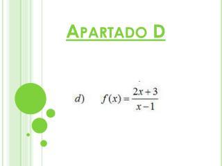 Apartado D