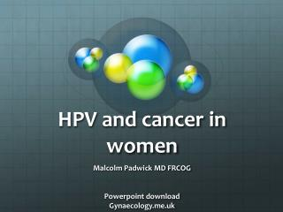 HPV and cancer in women