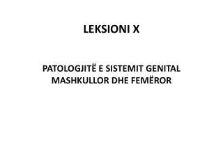 LEKSIONI  X