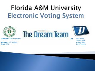 Florida A&M University Electronic Voting System