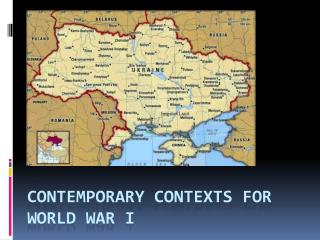 Contemporary Contexts for World War I