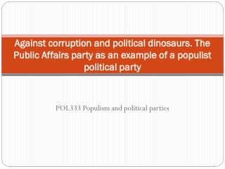 POL333  Populism and political parties