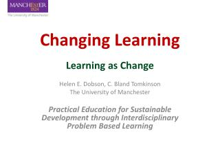 Changing Learning