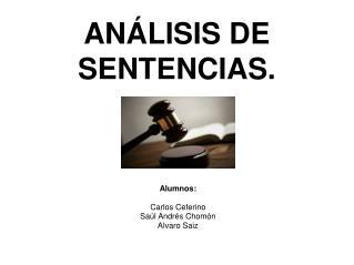 AN�LISIS DE SENTENCIAS.