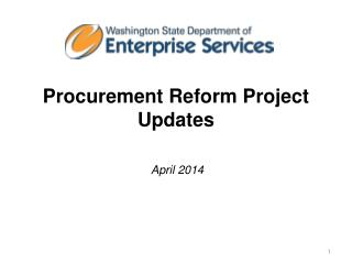 Procurement Reform Project Updates