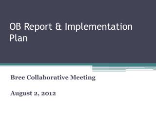 OB Report & Implementation Plan