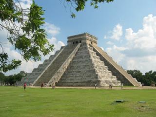 "El Castillo, or ""The Temple of  Kukulkan ,"" in the city of  Chichen  Itza"