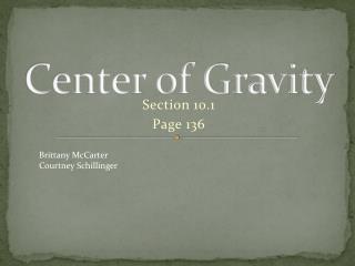 Center  o f Gravity