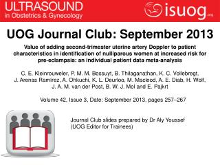 UOG Journal Club: September 2013