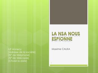 La NSA nous espionne