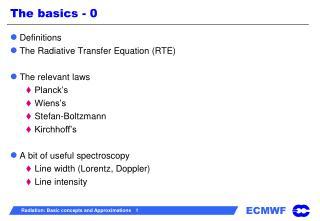 The basics - 0