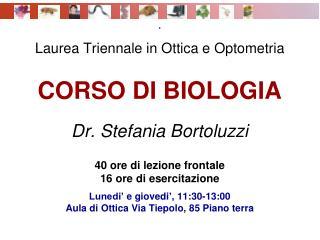 CORSO DI BIOLOGIA  - P rogramma
