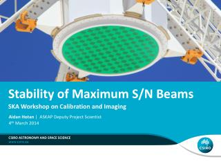 Stability of Maximum S/N Beams