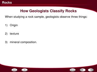 How Geologists Classify Rocks