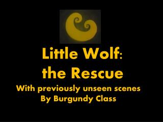 Little Wolf:  the Rescue