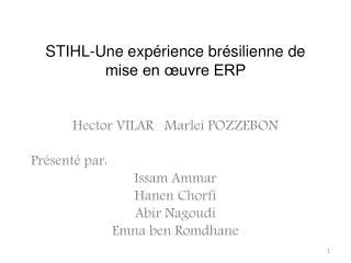 STIHL-Une expérience brésilienne de mise en œuvre ERP