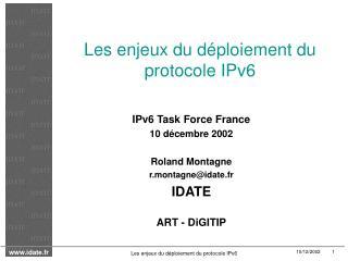 Les enjeux du d ploiement du protocole IPv6