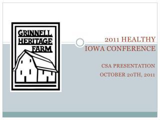 Csa  presentation October 20th, 2011