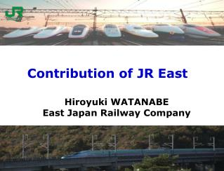 Contribution of JR East