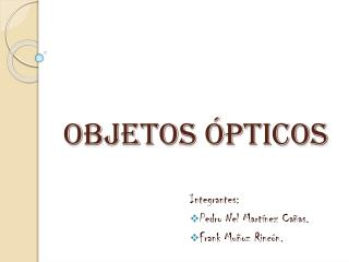 Objetos ópticos