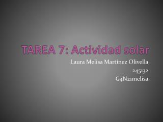 TAREA 7: Actividad solar