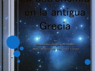 La astronomía en la antigua Grecia