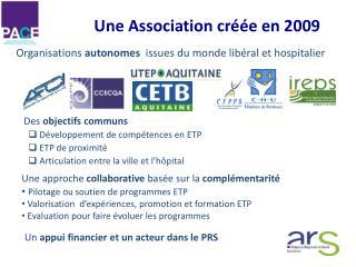 Des  objectifs communs Développement de compétences en ETP ETP de proximité