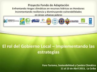 Proyecto Fondo de Adaptaci�n