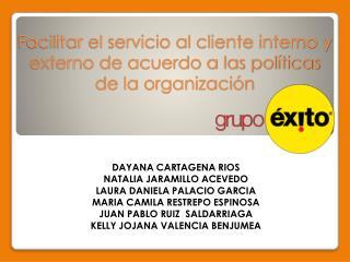 Facilitar el servicio al cliente interno y externo de acuerdo a las políticas de la organización