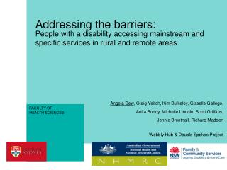 Addressing the barriers: