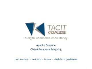 Apache Cayenne Object Relational Mapping