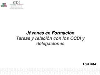 Jóvenes en Formación Tareas y relación con los CCDI y delegaciones