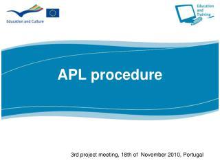 APL procedure