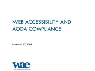 Web Accessibility and AODA Compliance