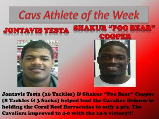 Cavs Athlete of the Week